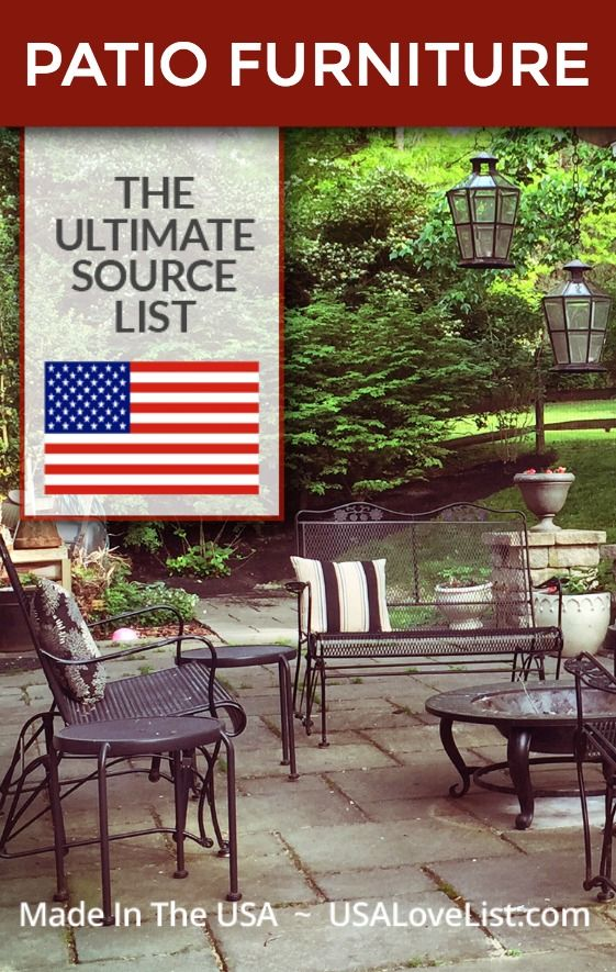 Beau Made In USA Patio Furniture #usalovelisted #patiofurniture #outdoorliving