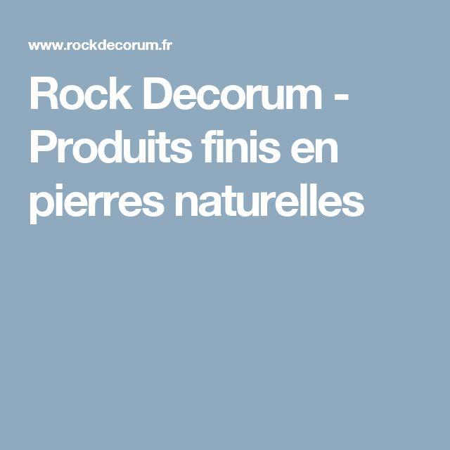 Rock Decorum , Produits finis en pierres naturelles