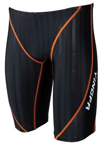 Amazon.com: Yingfa 9102-1 Lightning Sharkskin Jammers MEN Swimming suit ,swimwear (Orange Line, XXL): Sports & Outdoors