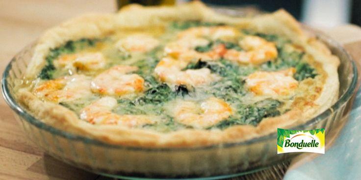 Видеорецеты - Открытый тарт со шпинатом и креветками - ингредиенты, калорийность, способ приготовления