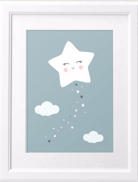 Drucke & Plakate – Kleiner Stern ganz gross – A4 – ein Designerstück von curryonthecouch bei DaWanda