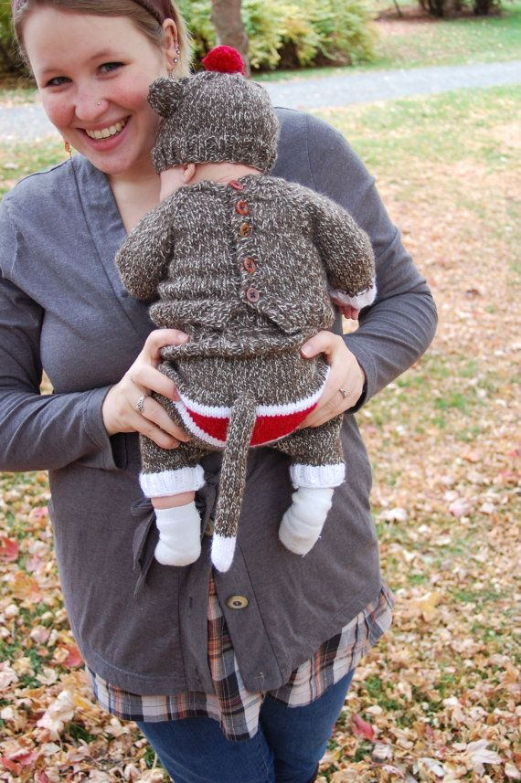 Children's Sock Monkey Costume. @Lindsey Walters you have to make this for Brody next Halloween!!!!
