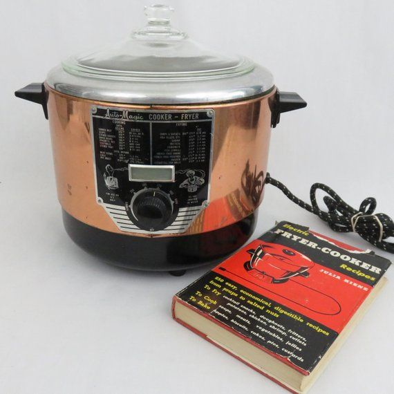 Auto Magic Cooker Fryer With Cookbook Copper Colored Etsy