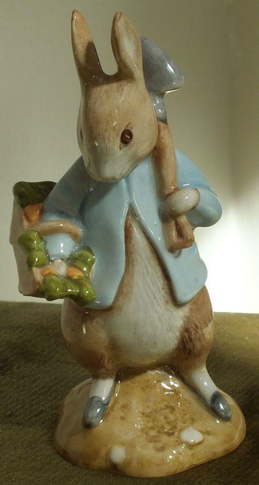 Beatrix Potter Peter Rabbit Gardening BP10a 1st quality NM Beswick