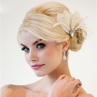 Hand Made Wedding Feather Hair Fascinator Headpieces Fascinators 007 4034306 2016 – $19.99