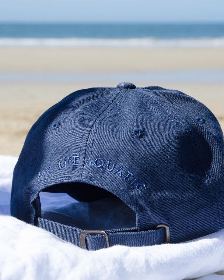 MY LIFE AQUATIC   Navy classic cotton beach cap