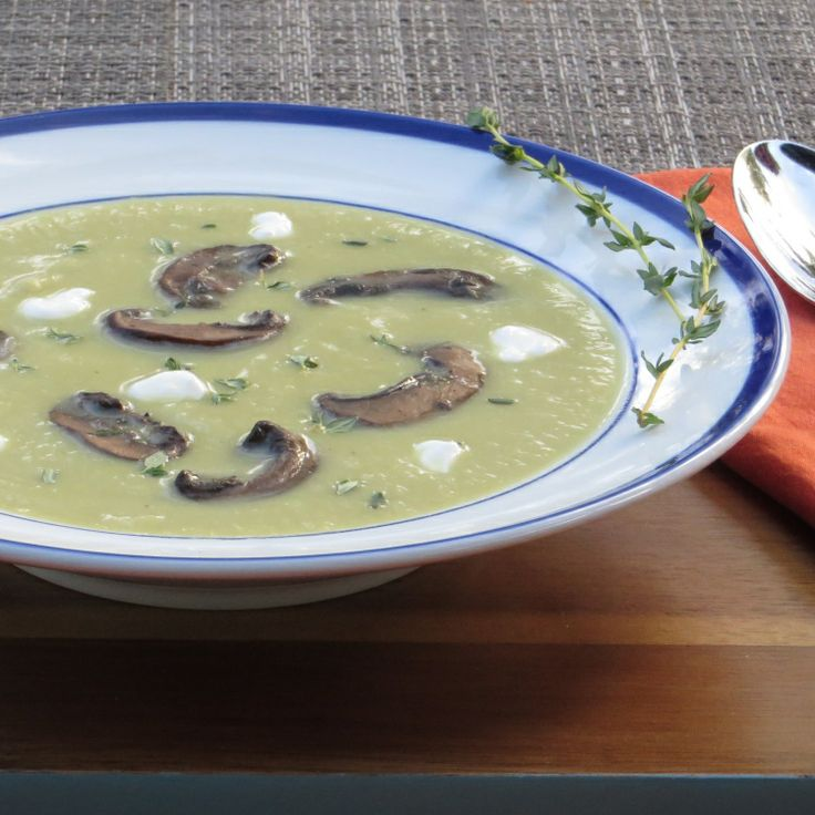 fennel and leek soup with mushrooms | Cooking | Pinterest