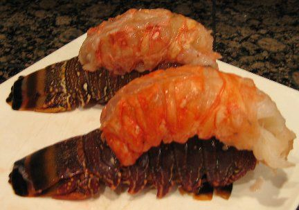 Ingredients:    4 (6-ounce) frozen Lobster Tails*  Melted butter  Lemon slices    * Figure one (1) lobster tail per person.        Preparation:    Defrost (thaw) lobster tails overnight in the refrigerator. The lobster tails may be cooked frozen, but for the best results, defrosted them before cooking. Check out my article How To Buy Frozen Lobster Tails. To defrost lobster tails, place them in the refrigerator for a period of approximately 8 to 10 hours or alternatively place them in a bowl…