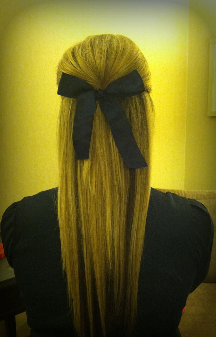 my friend's hair i did for cheerleading! #poof #cheerleading @Jess Pearl Pearl Pearl Liu Rains