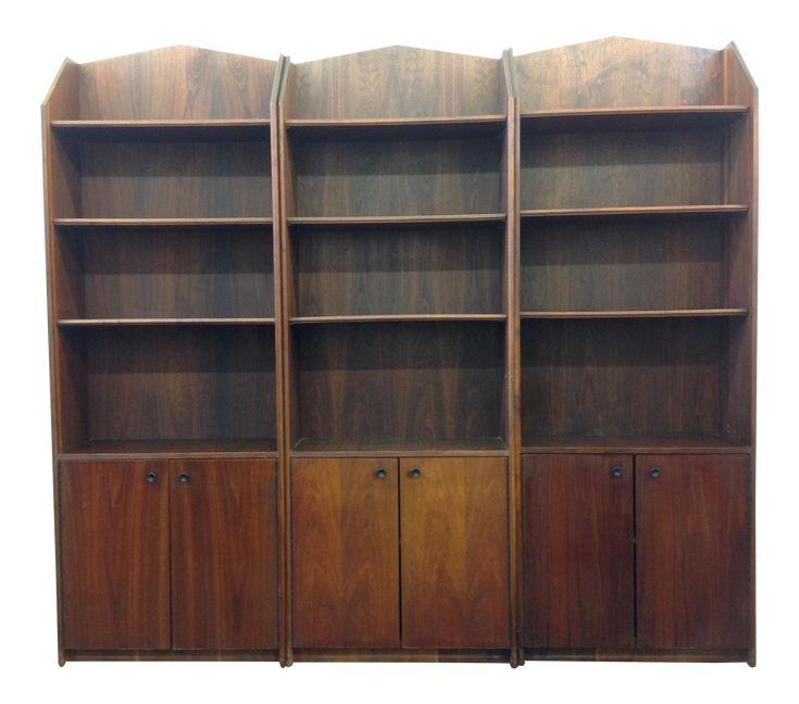 Mid-Century Modern Display Cabinets -- Set of Three on Chairish.com