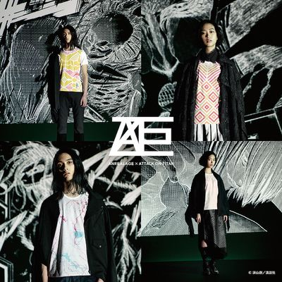 ANREALAGE ×進撃の巨人コラボレーション T シャツ