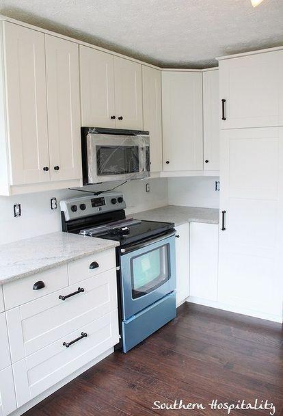 newly installed ikea kitchen, countertops, kitchen cabinets, kitchen design, Stove side of kitchen