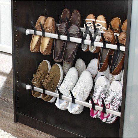 Range-chaussures 10 paires extensible à fixer