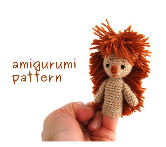 USD 6.53 hedgehog amigurumi #pattern, crochet finger puppet, hedgie puppet pattern, animal #fingerpuppet, animal puppet pattern, amigurumi #hedgehog