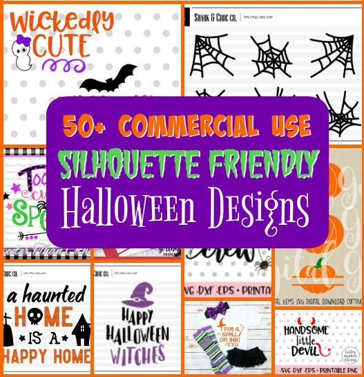 Well I just stumbled across the mother lode of Halloween Silhouette designs! This is a sponsored post but all opinions are my own.This is seriously amazing and there is something for everyone whether