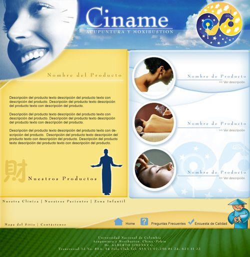 Sitio web para CINAME - Acupuntura y bienestar - Año ©2008