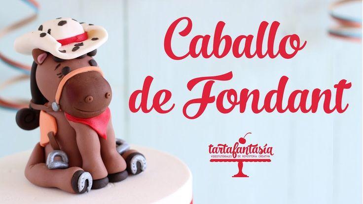 Cómo hacer un Caballo de Fondant. Pony with cowboy hat