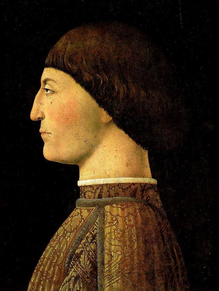 Portrait of Sigismondo Pandolfo Malatesta, 1451 by Piero della Francesca (Italian 1415-1492)