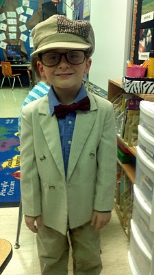 Celebrate the 100th Day of School by having students dress up like they're 100 year olds. Super cute!!