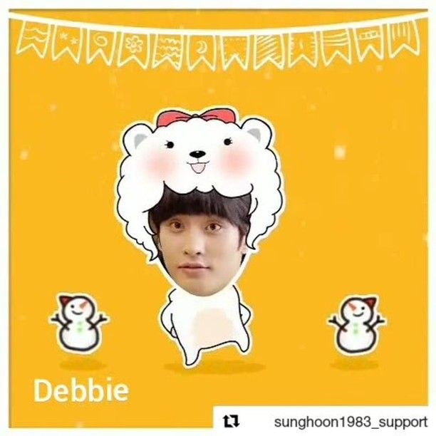 """2 Likes, 1 Comments - Debbie Moh (@debbie_moh) on Instagram: """"#Repost @sunghoon1983_support ・・・ 😂😂Happy day to you^^ . .  video by our cute fans thanks to sister…"""""""