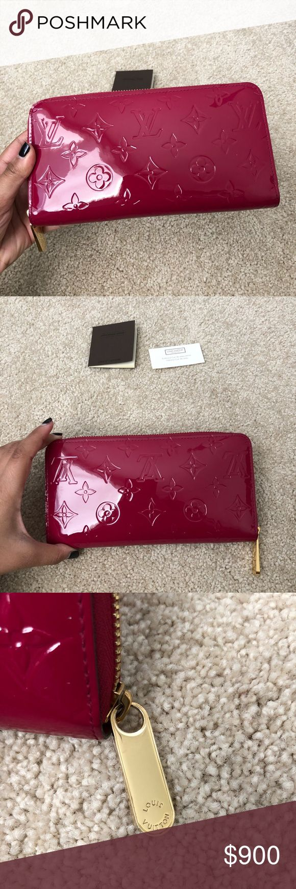 🦄 LV ZIPPY WALLET MONOGRAM VERNIS 🦄 EXCELLENT condition, barley used Zippy Wallet in the patent monogram vernis, DISCONTINUED COLOR! Gently used only a few times, has been stored in dust bag! Leather is in EXCELLENT/LIKE NEW condition; zipper also great since only taken out a few times details below!    💕 Made in SPAIN - Datecode CA1173   💕 2 main/front card slots slightly stretched - those were the only card slots used   Please refer to all photos closely - feel free to request any…