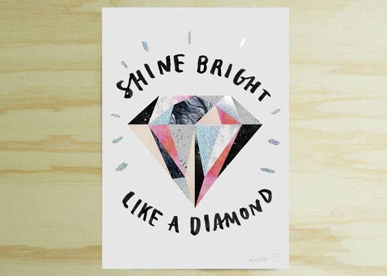 Blacklist Studio prints - Shine like a diamond | Collected by LeeAnn Yare