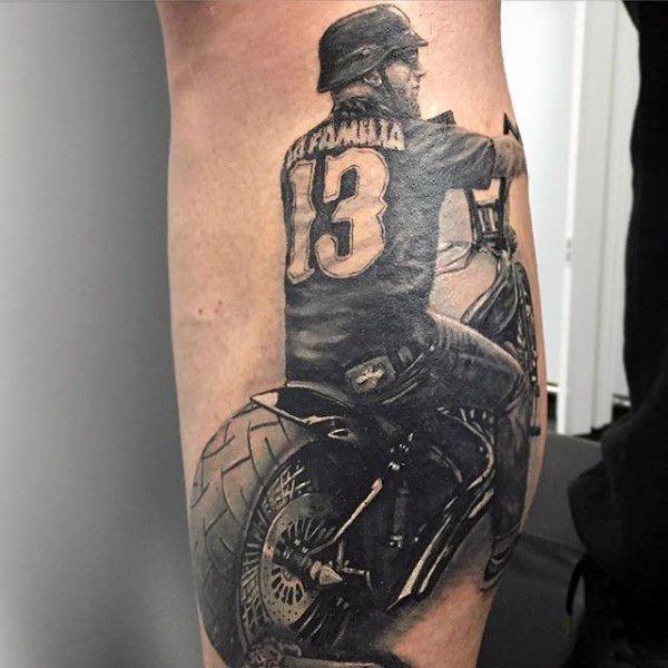 70 biker tattoos for men manly motorcycle ink design for Biker chick tattoos