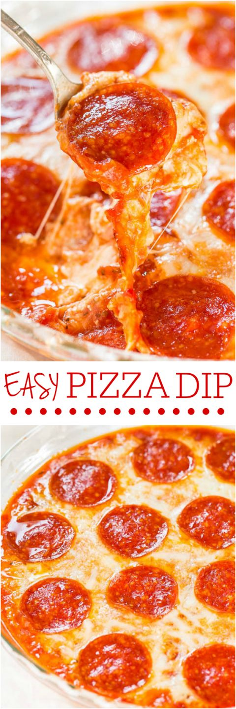 Easy Pizza Dip - Cheese lovers and pizza fans will love this fast and easy dip!! Perfect party food that's a guaranteed hit! That CHEESE!!