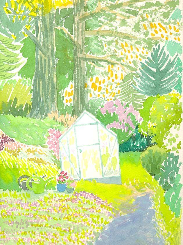 Wensi Zhai _ Green house in the yard