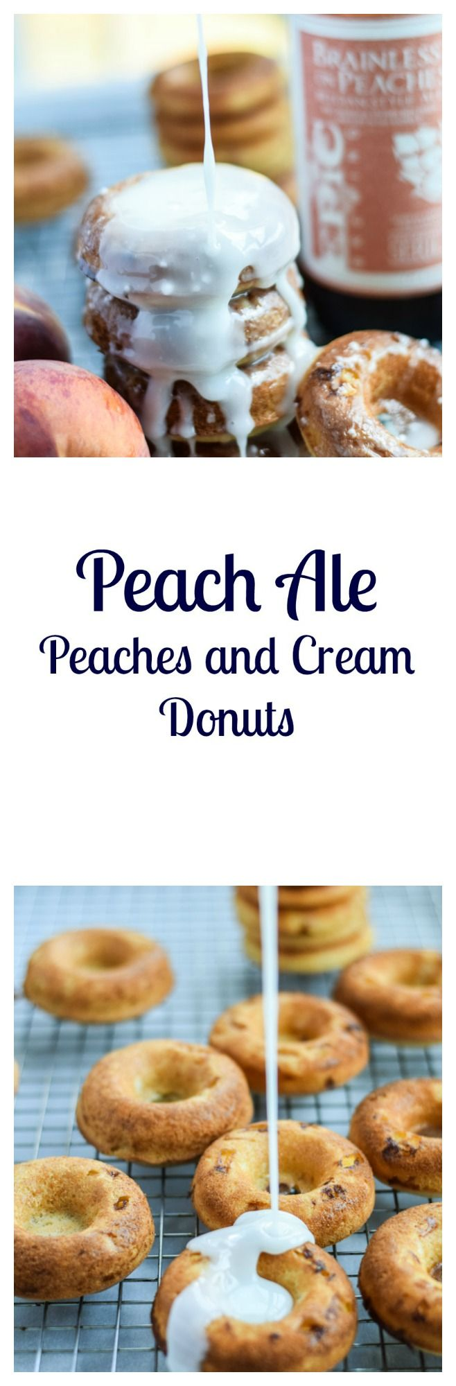 Peach Ale Peaches and Cream Donuts