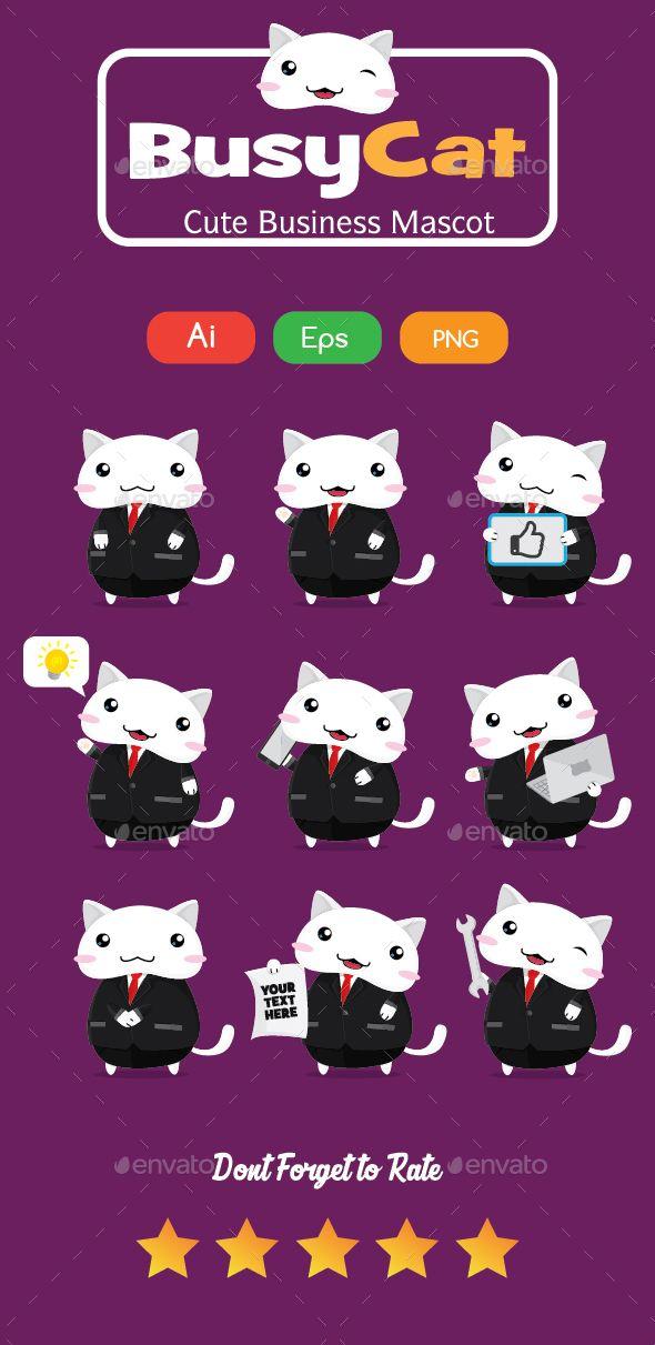 Bussiness Cat Mascot