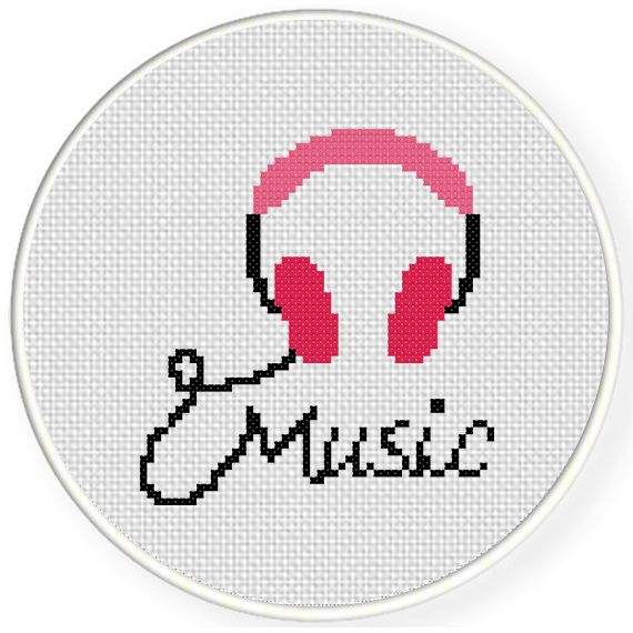 Charts Club Members Only: Music Cross Stitch Pattern