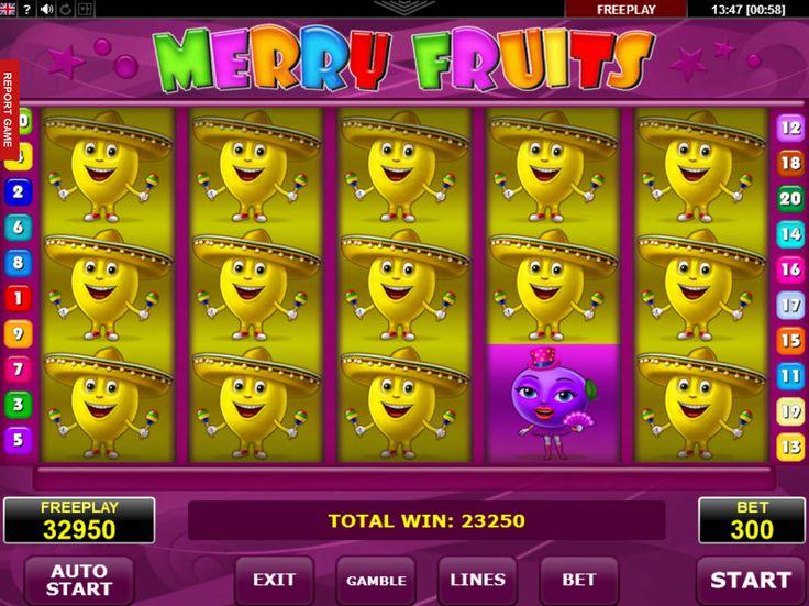 Viel Spaß kostenlos online Spielautomat Merry Fruits - http://freeslots77.com/de/merry-fruits/