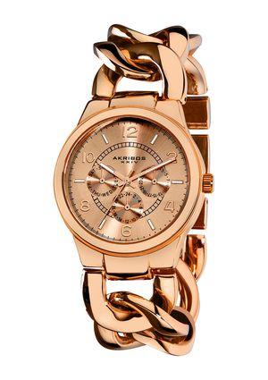 AKRIBOS XXVI Ladies Chain Link Bracelet Watch