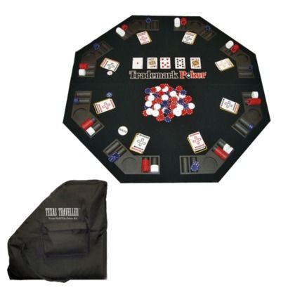 Perfect Trademark Poker Texas Traveller Folding Poker Table And Chip Set.Opens In A  New Window
