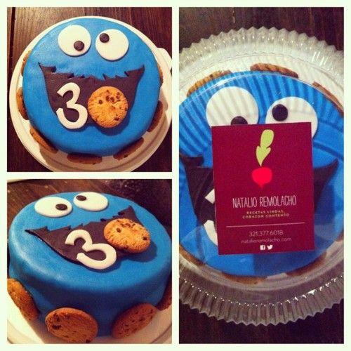 Natalio Remolacho Torta Cookie Monster