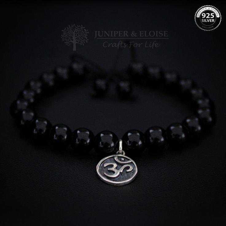 OM Bracelet, Mala Beads, Wrist Mala, Yoga Beads Healing Jewelry,Yoga Zen Jewelry, Om Shanti, Aum jewelry, Braccialetto, Karkötő, Pulseira by JuniperandEloise on Etsy