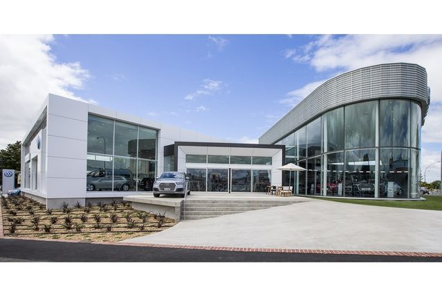 Commercial Architecture Award: Ebbett Audi and Volkswagen Showrooms, Hamilton by Chow:Hill Architects.