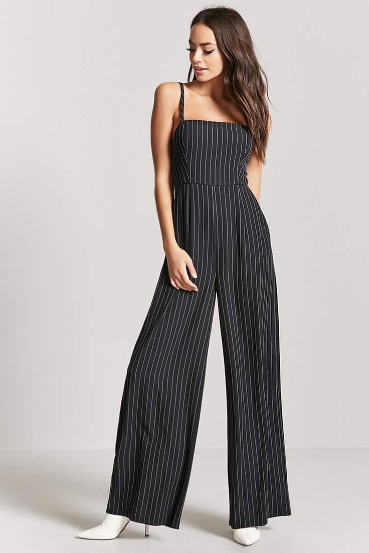 Product Name:Pinstriped Palazzo Jumpsuit, Category:dress, Price:24.9