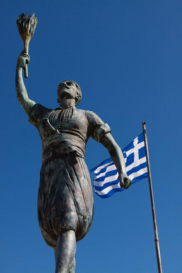 Statue of Giorgos Anemogiannis, Nafpaktos,  Greece