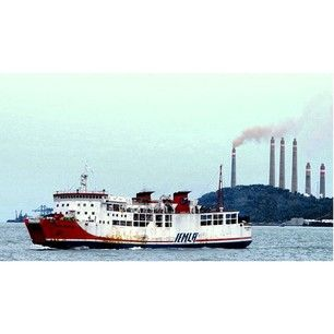 A Ferryboat in the Sunda Strait. The Sunda Strait (Indonesian: Selat Sunda) is the strait between the Indonesian islands of Java and Sumatra. @getourguide cat cat (Getourguide.com) on Instagram. Make your own itinerary at getourguide.com