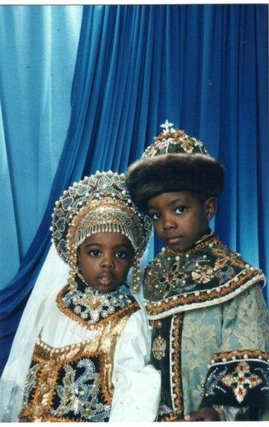 Future king and queen I don't know who they are or where they are from, but it's a beautiful picture.