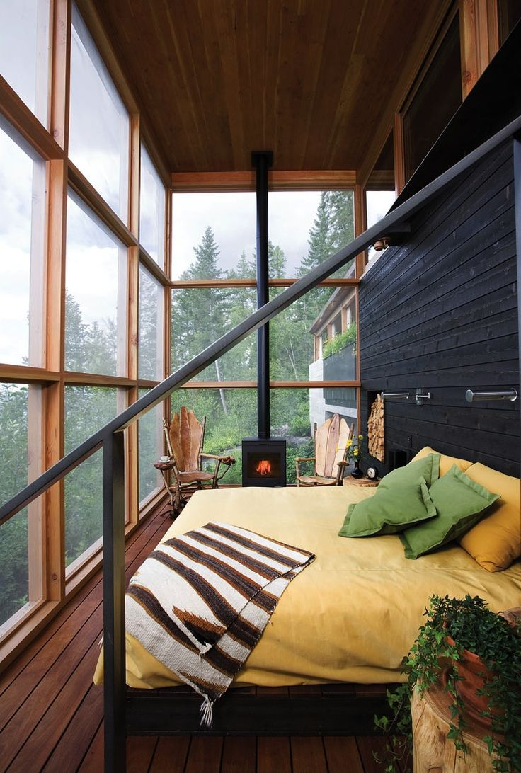 stylish-homes:   Cozy Bedroom…Expansive Views |... - Creative Houses