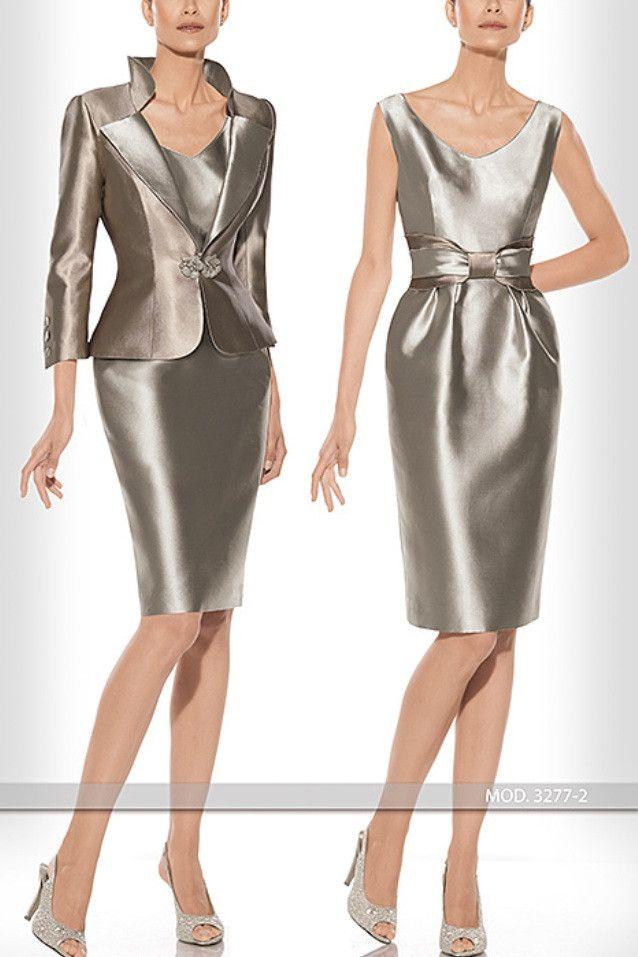 Vestido y chaqueta para madrina de Teresa Ripoll modelo 3277