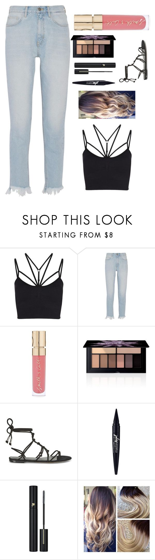 """""""Untitled #208"""" by malyaia ❤ liked on Polyvore featuring Sweaty Betty, M.i.h Jeans, Smith & Cult, Smashbox, Rebecca Minkoff, Maybelline and Lancôme"""