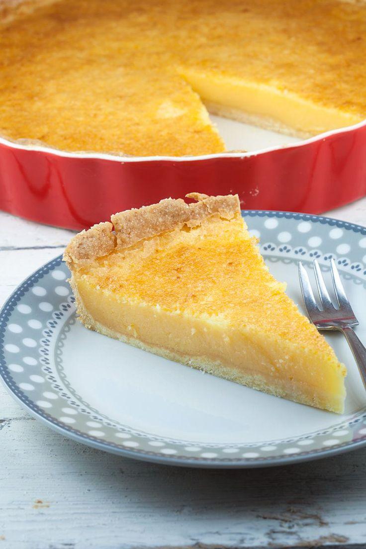 Karnemelk citroen taart