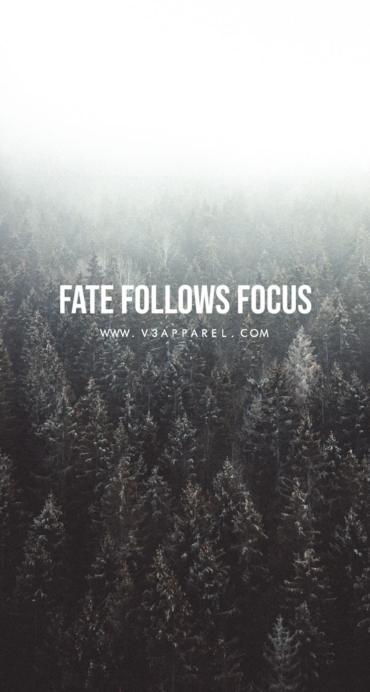 Fate follows focus.   #V3Apparel#Quotes#Motivational #Inspire #Motivate