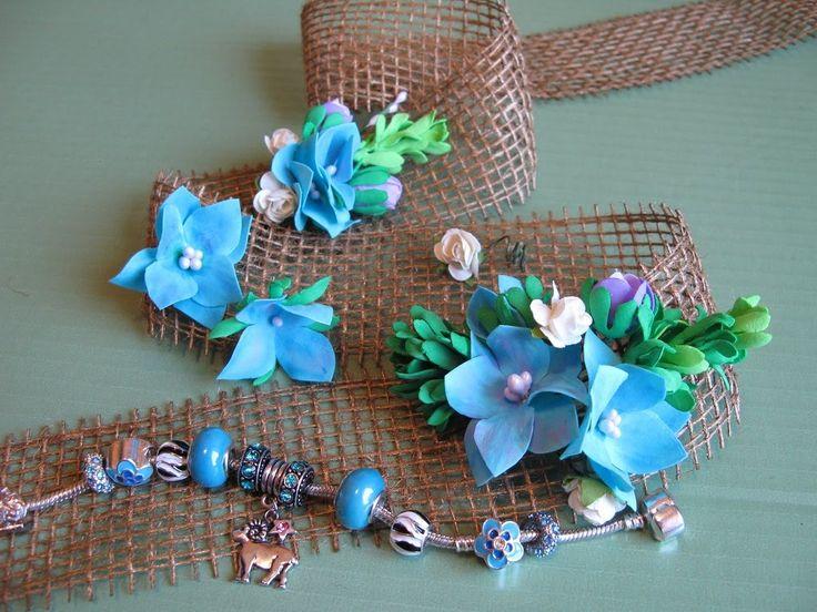 Цветочные миниатюры из фоамирана для декора. Мастер класс. Цветы из фоам...