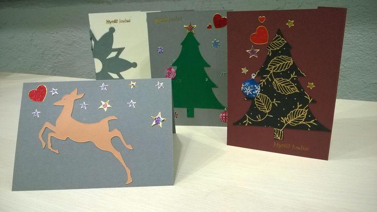 Joulukortin päivän työpajasta 2014. #joulukortti #postimuseo #askartelu