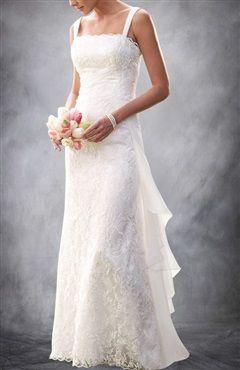 Straps A-line Sheath Wedding Dress